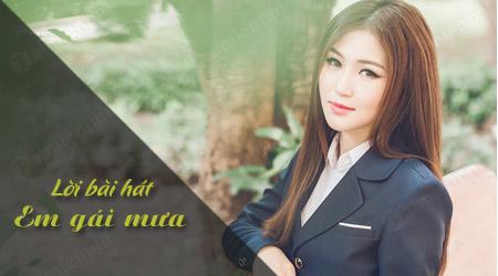 Lời bài hát Em gái mưa Hương Tràm