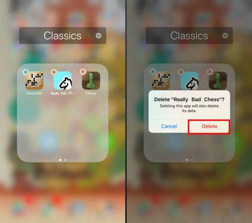 xoa hoac go bo ung dung tren iphone ipad