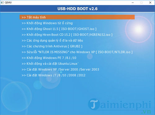 Cách sử dụng Usb HDD boot 9