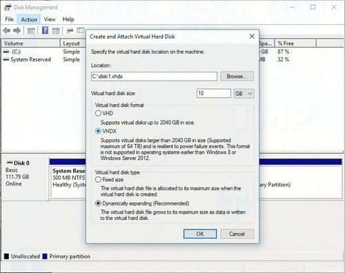 cach su dung resilient file system refs tren windows 10 3