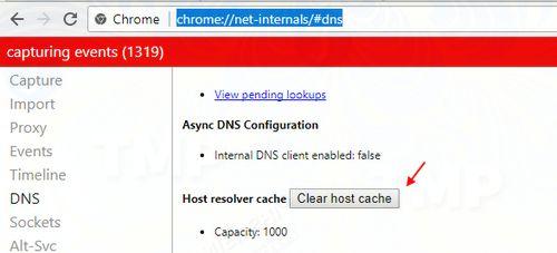 Sửa lỗi Server DNS Address Could Not Be Found trên Chrome 6