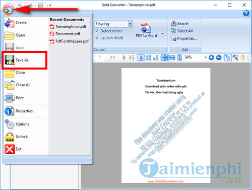 How to use pdf to word converter 8
