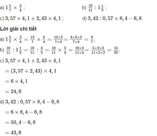 Giải bài tập trang 176, 177 SGK Toán 5, Bài 1, 2, 3, 4, 5 – Luyện tập