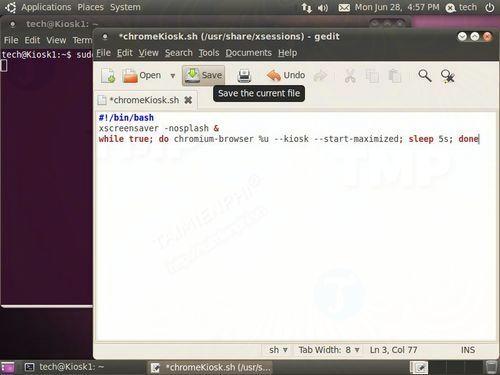 Thiết lập Ubuntu dưới dạng ứng dụng Kiosk Web