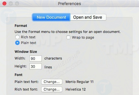 cach luu cac file o dinh dang txt trong textedit tren mac