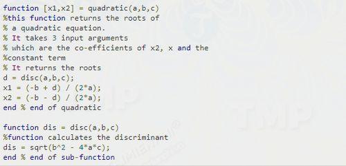 Cách viết hàm trong MATLAB 4