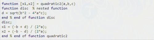 Cách viết hàm trong MATLAB 6