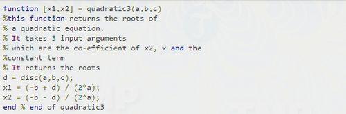 Cách viết hàm trong MATLAB 8