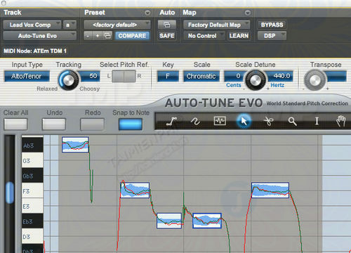 The manual tune uses the auto tune to make the song better than part 2