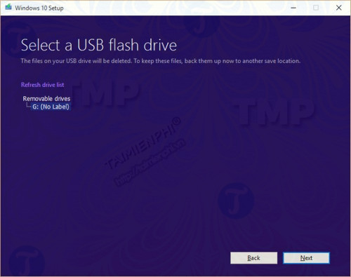 cach tao usb cai windows 10 april 2018 update 5