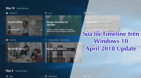 sua loi timeline khong hoat dong tren windows 10 april 2018 update