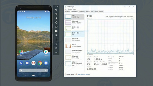 gia lap android ho tro vi xu ly amd va hyper v tren windows