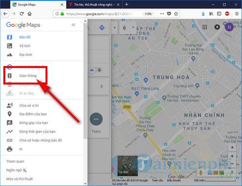 cach su dung google traffic xem tac duong giao thong 5