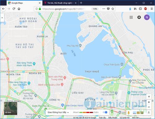 cach su dung google traffic xem tac duong giao thong 6