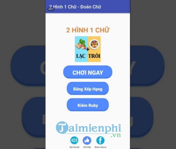 dap an game truy tim bai hat 2 hinh 1 chu