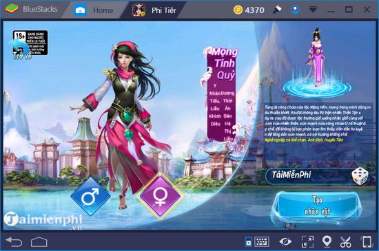 Cách chơi Phi Tiên Mobile trên máy tính