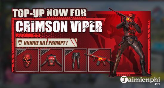 rules of survival update 16 5 nhan trang phuc crimson viper mo bao danh giai dau ros sea cup