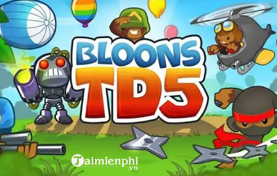 cach choi bloons td 5 tren may tinh