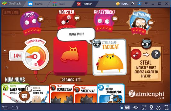 Cách chơi game mèo nổ Exploding Kittens trên PC 6