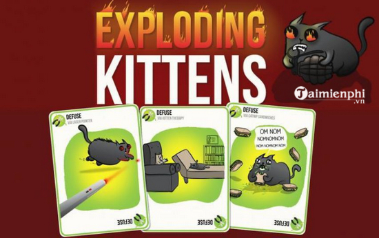 cach choi game meo no exploding kittens tren pc