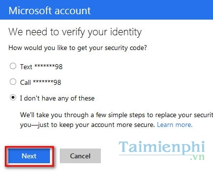 Khôi phục, lấy lại mật khẩu, password của tài khoản Microsoft