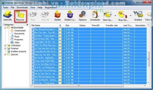 Cách tải toàn bộ list bài hát trong bảng xếp hạng trên MP3 Zing 5