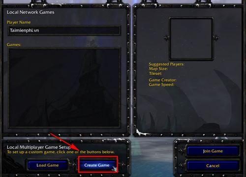 cach chon map trong warcraft 3 7
