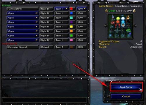 cach chon map trong warcraft 3 9