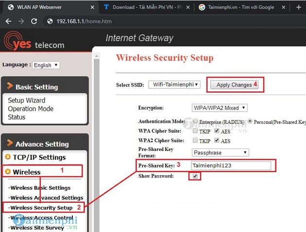 Cách đổi mật khẩu Wifi mới 2020 mạng FPT, Viettel, VNPT 6