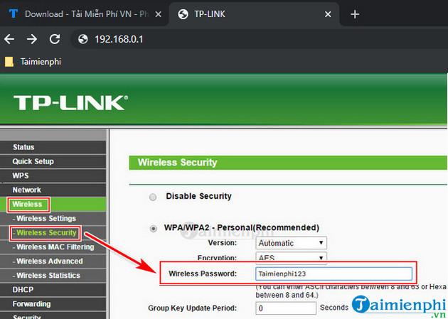 Cách đổi mật khẩu Wifi mới 2020 mạng FPT, Viettel, VNPT 7