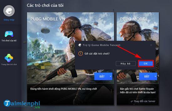 Cách gỡ cài đặt PUBG Mobile VNG trên Tencent Gaming Buddy