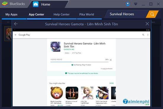 Hướng dẫn chơi Survival Heroes Gamota trên máy tính