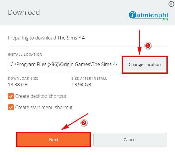 Hướng dẫn tải và cài đặt miễn phí game The Sims 4 9