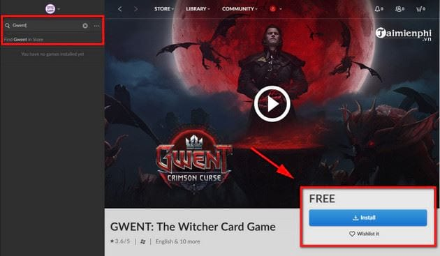 cach tai va cai dat mien phi game the witcher enhanced edition 3