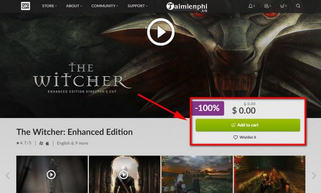 cach tai va cai dat mien phi game the witcher enhanced edition 5