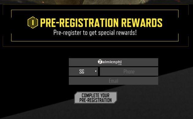 Hướng dẫn đăng ký trước Call of Duty Mobile của Garena