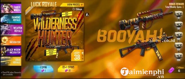 Cách nhận skin súng UMP Wilderness Hunter trong Free Fire