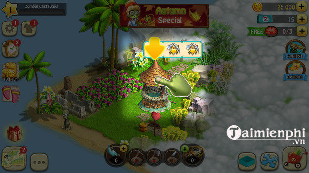 how to play zombie game castaways 3