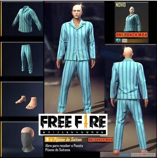 ro ri trang phuc one punch man trong garena free fire 4