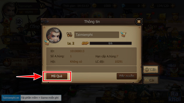 how to enter giftcode game two tac toc chien