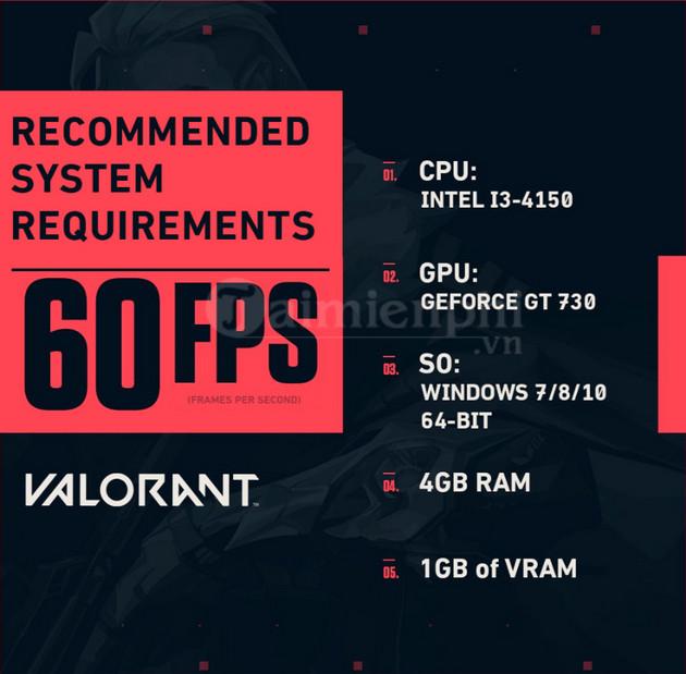 Cấu hình chơi Valorant trên PC mượt, không lag 2