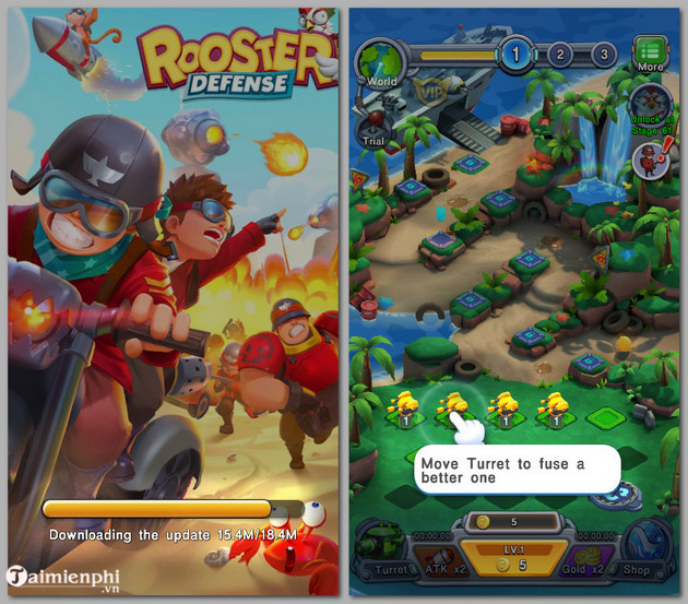 how to play rooster defense 2 game