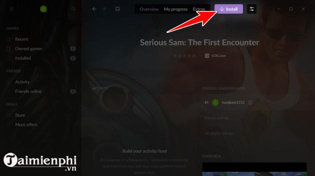 Cách tải và chơi game Serious Sam The First Encounter