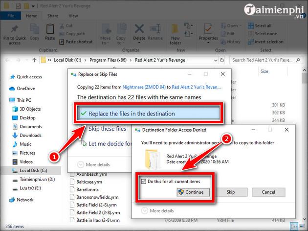 Hướng dẫn tải và cài game Red Alert 2 trên Windows 10 9