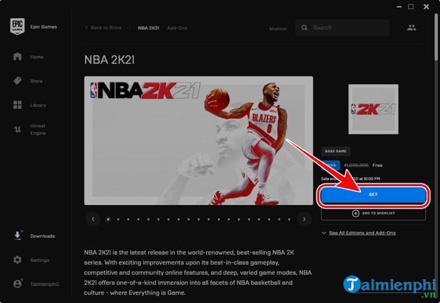 download free game nba 2k21 tren pc