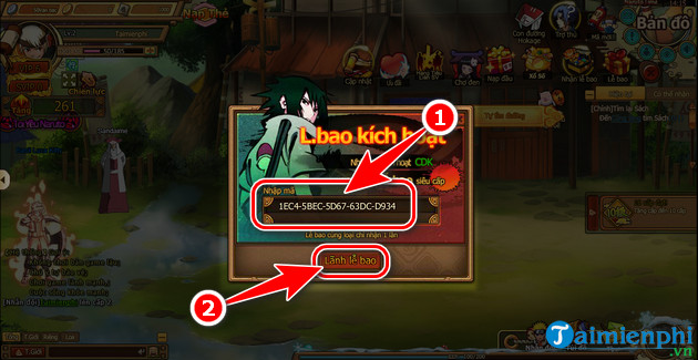 giftcode naruto toc chien mangaplay