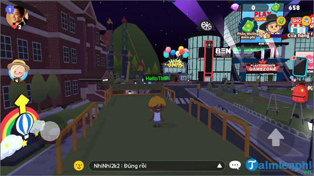 cach doi ten nhan vat trong play together tren Android iOS