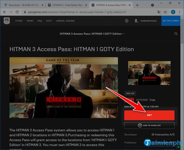 free download hitman 3 on pc