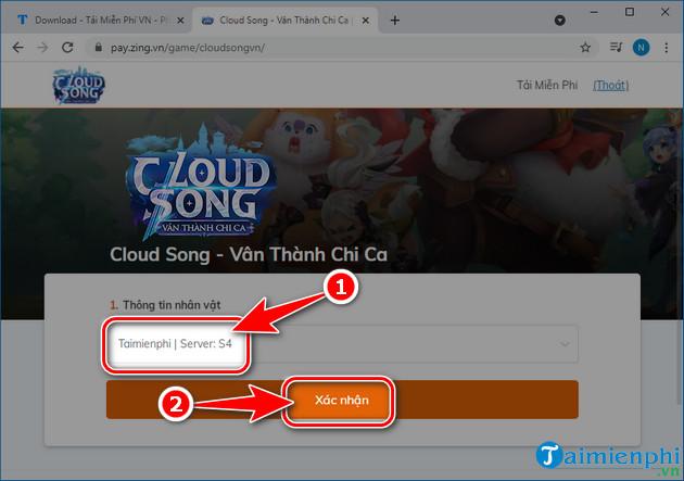 cach nap the cloud song van thanh chi ca vng 3