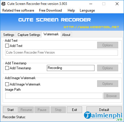 quay video man hinh may tinh voi cute screen recorder free